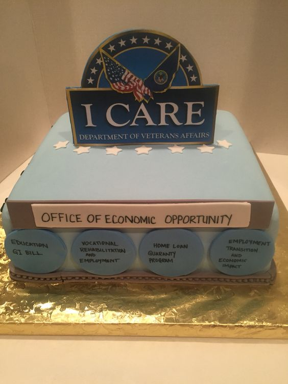 Department of Veteran Affairs PowerPoint cake