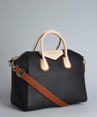 Givenchy : black leather colorblock 'Antigona' convertible tote