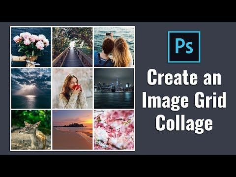 How To Create Square Image Grid Collage In Photoshop Youtube In 2020 Photoshop Photoshop Youtube Photoshop Tutorial