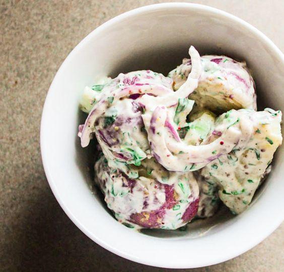 ... potato marinated grilled chicken creamy potato salad about you basil