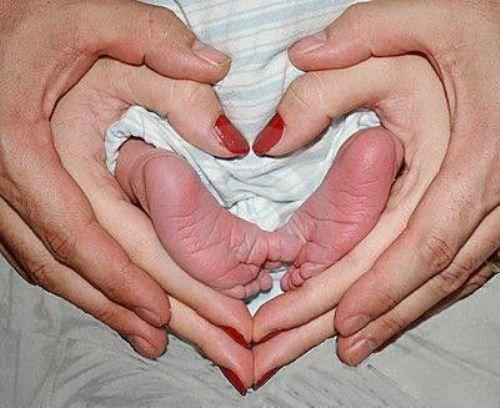 Baby foot - Heart