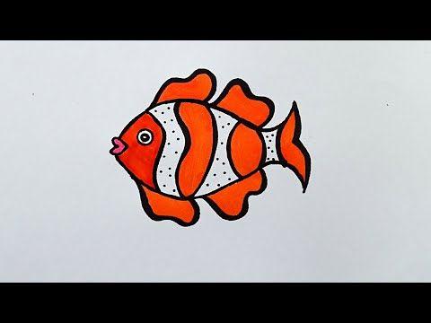Easy Fish Drawing How To Draw Fish Drawing Draw Color Kids Drawing Youtube Fish Drawings Easy Fish Drawing Drawn Fish