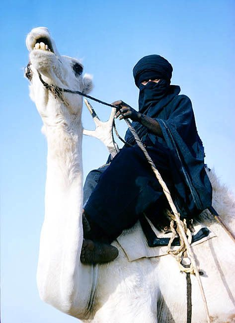 Tuareg nomadic people of Algeria and Niger in the Sahara and the Sahel