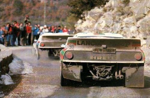 """Miki Biasion - Tiziano Siviero (Lancia 037 """"Jolly Club"""") Henri Toivonen - Juha Piironen (Lancia 037 """"Lancia Martini"""") 53 Rally Montecarlo (1985)"""