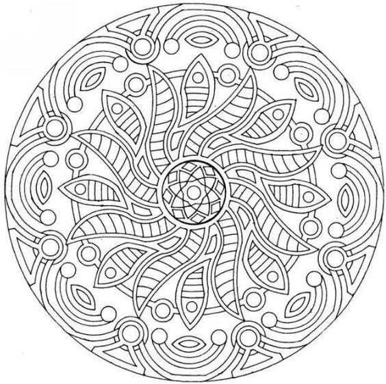 Mandala Coloring Coloring Pages And Mandalas On Pinterest Complex Mandala Coloring Pages Printable