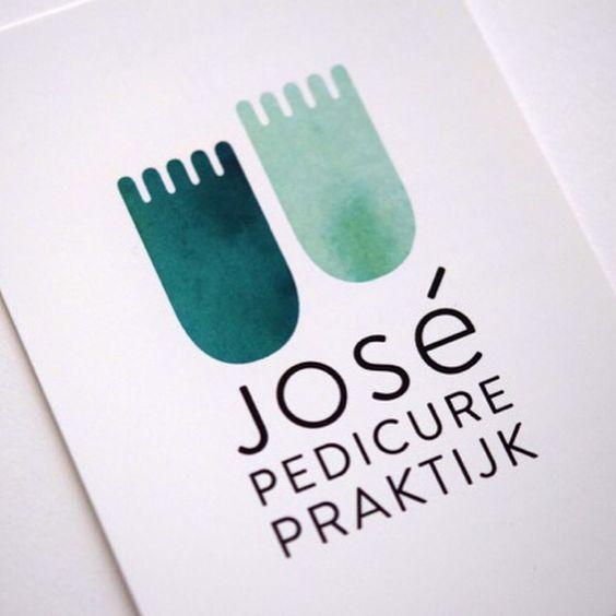 Logo José Pedicurepraktijk #logo #pedicure #voeten #groen #feet #identity #identiteit #grafischontwerp #graphicdesign #verzorging #studio-enkelvoud