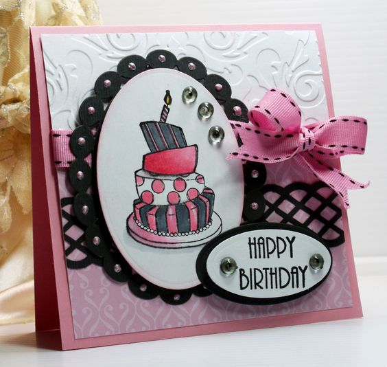 Happy Birthday Card - Greeting Card - Handmade Card ...