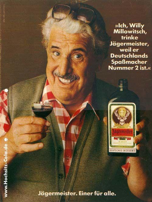 455 I Willi Millowitsch Drink Jaeger Maestro Porque El Alemania Diversion Macher Number 2 Es 455iwillimillowit Jagermeister Werbung Spassmacher Jagermeister