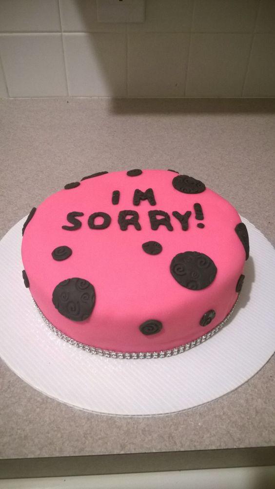 #Chocolatecake with #caramelfilling. Pink with black #polkadots #fondant #cake cute swirly pattern on dots.