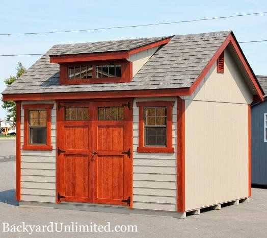 10 39 X12 39 Garden Shed With Transom Dormer Transom Doors