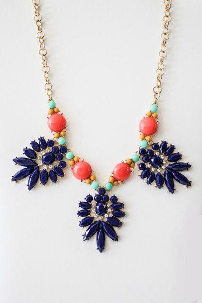fiesta necklace in lavender – gallery. boutique