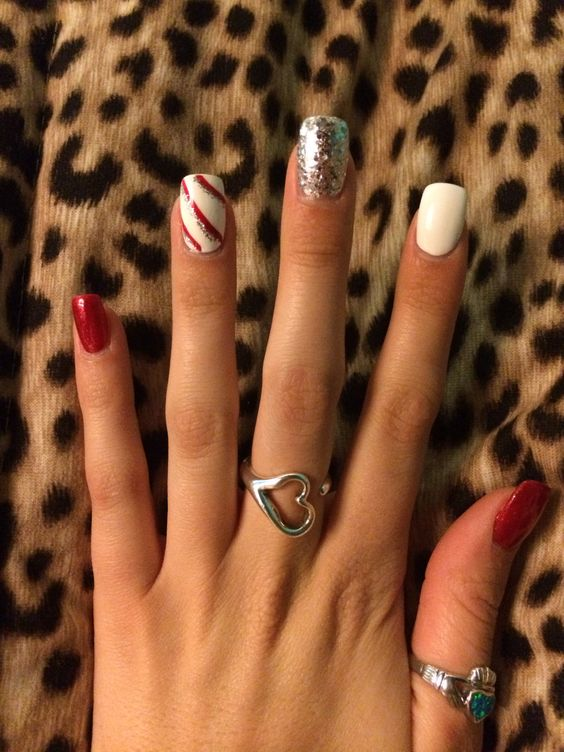 Christmas nails! #candycane #holiday #nailart