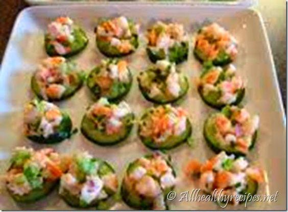 Shrimp Salad on Cucumber Slices Recipe - Healthy Recipes