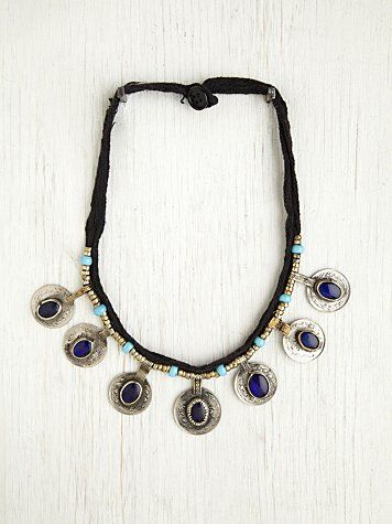 Free People Vintage Kuchi Coin Necklace