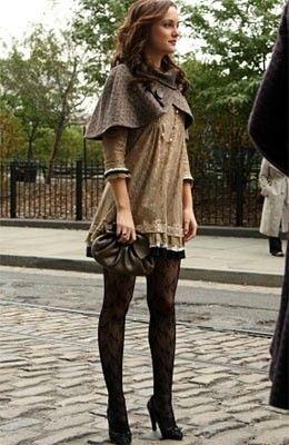 GG | short dress + thights + high heels.. Blair, inspiration
