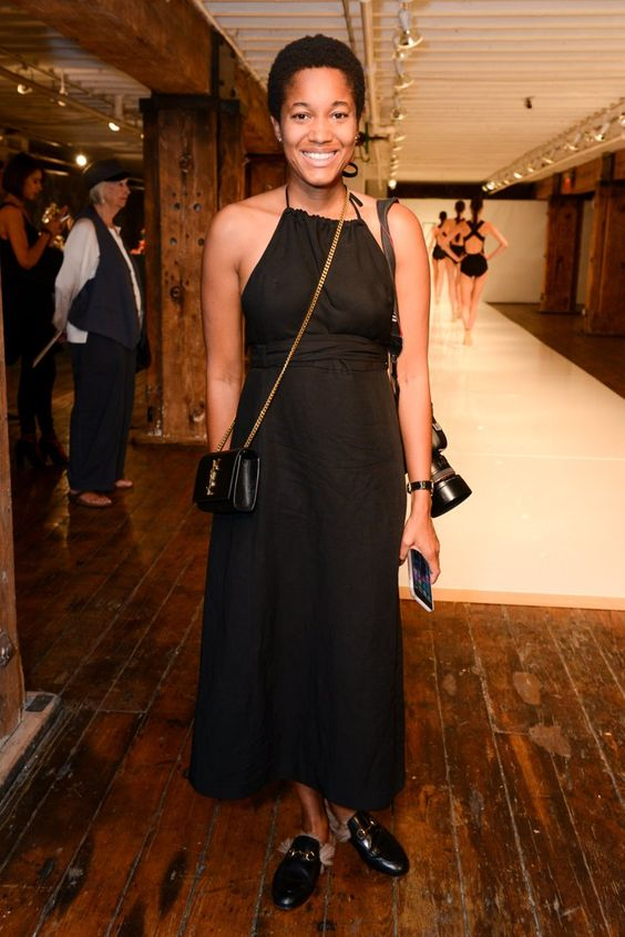 Pin for Later: Would You Wear the Fashion World's New Favorite Shoe?  Tamu McPherson sported them with an LBD.