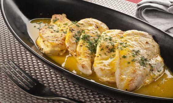 Receta de filetes de pollo a la naranja   Zenia Boulevard   Alicante   Spain