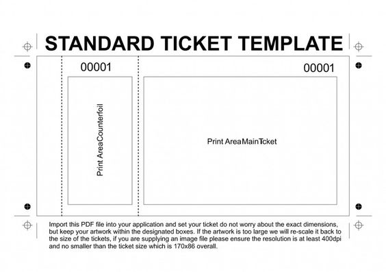 Cheap Ticket printing - exit ticket template