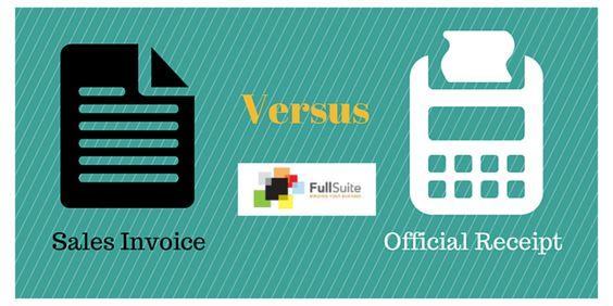 Sales Invoice Vs Official Receipt  Business