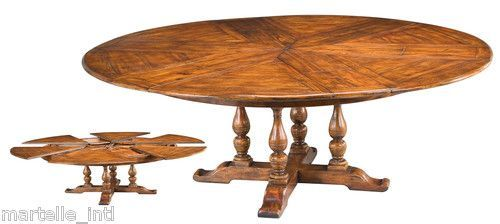 Endearing large round dining table ebay