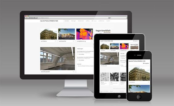 Moderne Technik trifft auf zeitloses Design: Die neue Website von Naumer Freie Architekten BDB ist klar und einfach gehalten. Großformatige Bilder beschreiben und unterstützen den individuellen Charakter der gezeigten Projekte. Die Darstellung ist für PC-Browser, Tablets und Smartphones optimiert.