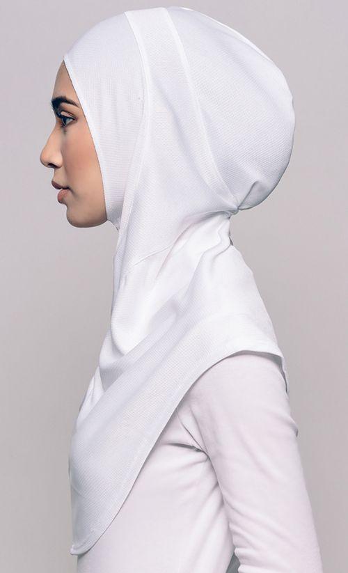 Najwaa Sport Free Hijab In White Fashionvalet Hijab Style Dress Sports Hijab Hijab Designs