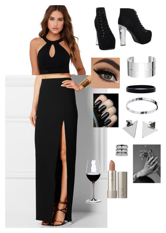 """""""Gala"""" by hipster-grunge ❤ liked on Polyvore featuring Lulu*s, Elizabeth and James, Jeffrey Campbell, Dinh Van, L. Erickson, Repossi, Cartier and Riedel"""