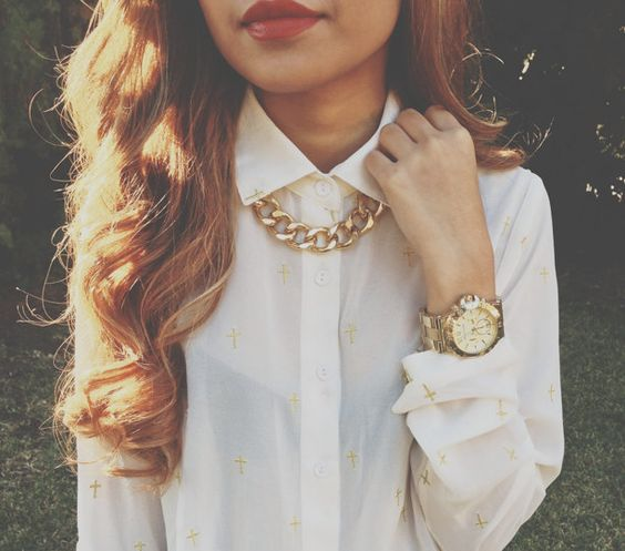 Gold Chunky Chain Necklace, Extra Chunky. $22.99, via Etsy.