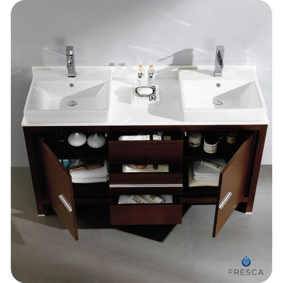 Wonderful Ice Hotel Bathroom Photos Small Waterfall Double Sink Bathroom Vanity Set Shaped Lowes Bathroom Vanity Tops Granite Bathroom Vanity Top Cost Old Image Of Bathroom Cabinets BlackBrushed Copper Bathroom Light Fixtures 60 Inch Double Sink Vanity With Quartz   ... 60 Inches Wenge Brown ..