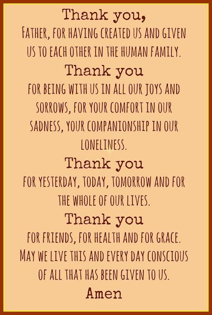 Molly Makes Do: In Gratitude Prayer from The Catholic Prayer Book, compiled by Msgr. Michael Buckley.