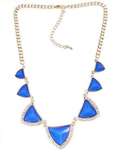 EOZY Collar Para Mujer Forma De Triángulo Cadena Chapado En Oro 18K (#3 Azul) de EOZY, http://www.amazon.es/dp/B00HK4VCV0/ref=cm_sw_r_pi_dp_kJmptb0BAXENV