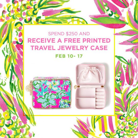Lilly Pulitzer Printed Travel Jewelry Case Promo Lilly Pulitzer
