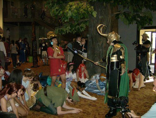Okay, WHY was I not at this costume party?  I see Kuzco and Loki and Peter Pan and Cinderella...