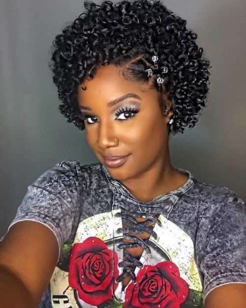 Attractive Afro Hairstyles For Black Women Coiffure Cheveux Naturels Coiffure Et Cheveux Afro