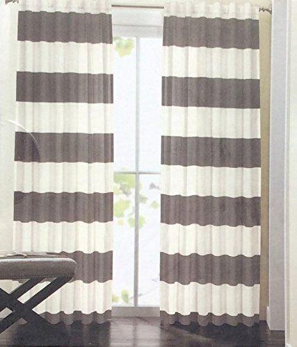 $60/pair - AmazonSmile - Hillcrest Wide Stripes Curtains 2 Panels ...