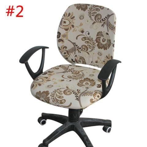 Seat Decorat Swivel Computer Chair Cover Stretch Office Armchair Protector New