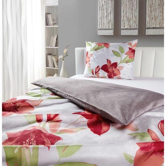 Sommerliche Bettwäsche mit großen, roten Lilien von ESPOSA