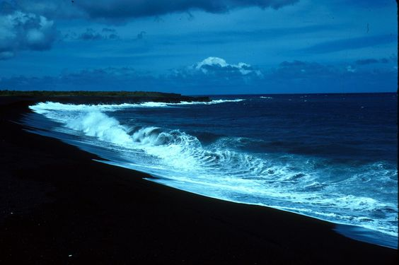 Walk with me on black sand shores....