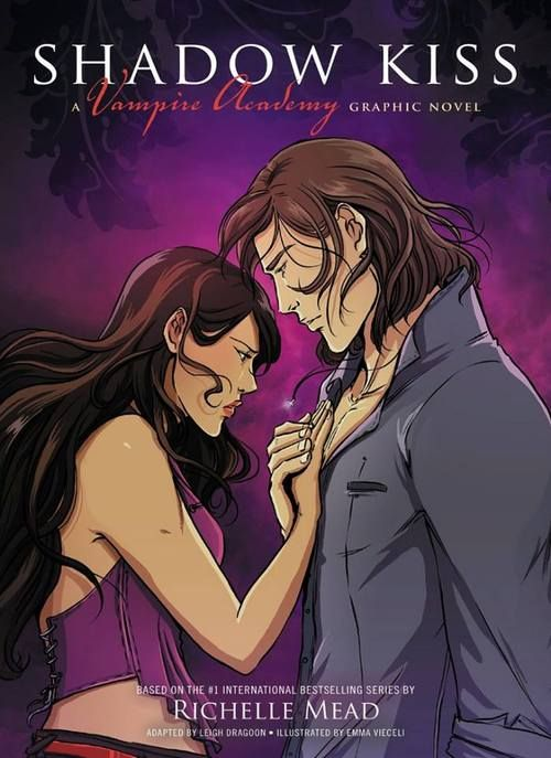 Shadow Kiss Graphic Novel cover:  Original story: Richelle Mead, Adaptation: Leigh Dragoon, Art: Emma Vieceli and Colours: Caravan Studio.