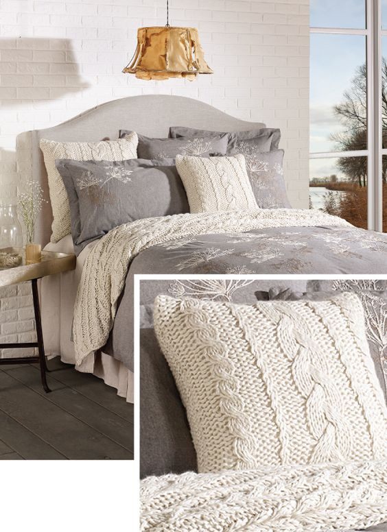 Cozy Cable Knit Throw Pillow From Brunelli Bedding