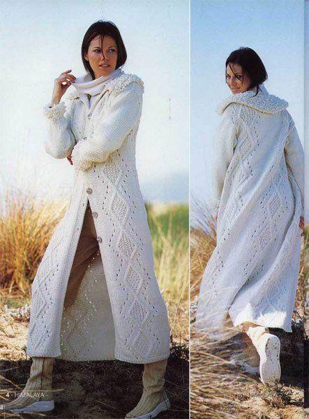 Белое вязаное пальто. Обсуждение на LiveInternet - Российский Сервис Онлайн-Дневников