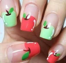 Uñas Manzanas Diy