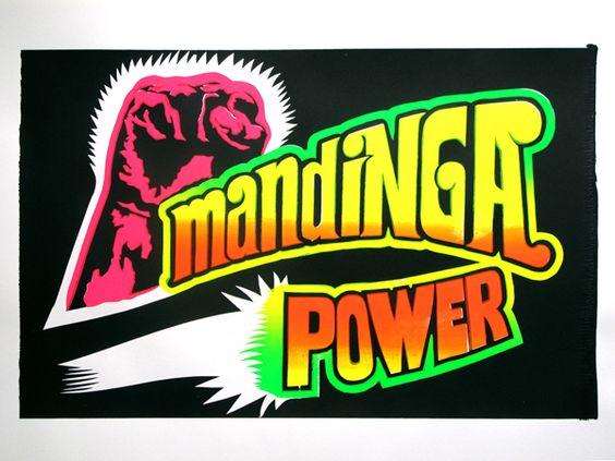#AnthonyBornachot X #LesSoeursChevalme / Mandinga Power / affiche sérigraphiée 70x50cm