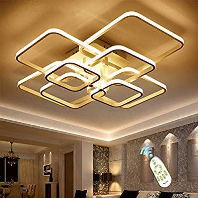 Led Ceiling Light Fixture With Remote Control Chandelier Modern Acrylic Lighting Flush Mount Lamp Ceiling Lights Ceiling Lights Living Room Led Ceiling Lights Remote control ceiling light fixtures