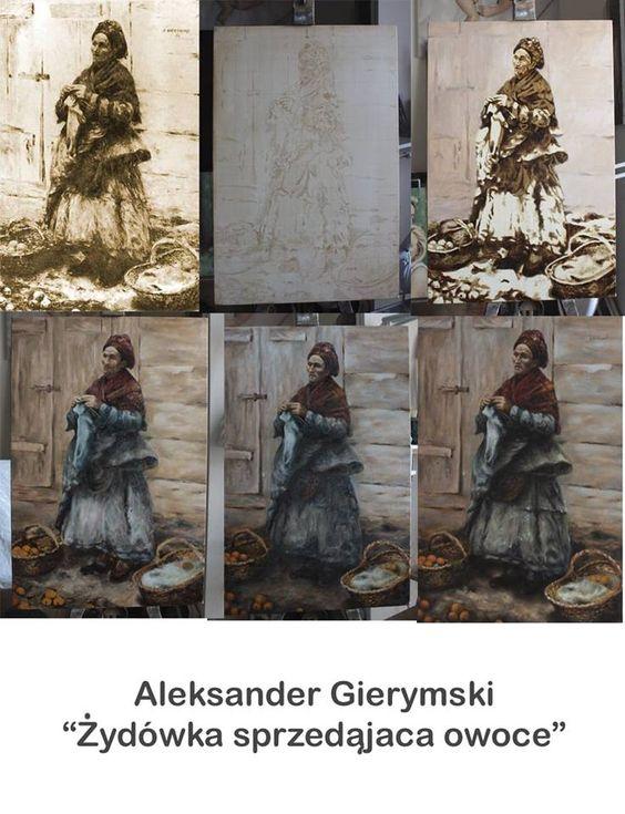Żydówka sprzedająca owoce wg Aleksandra Gierymskiego