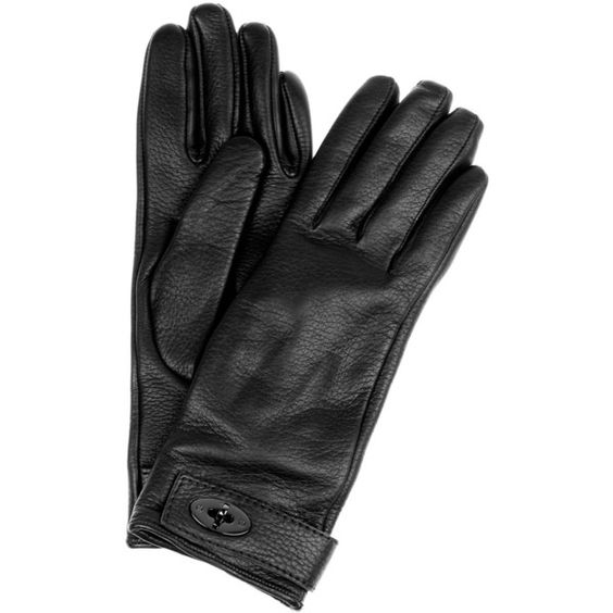 Mulberry Bayswater cashmere-lined leather gloves ($260) ❤ liked on Polyvore