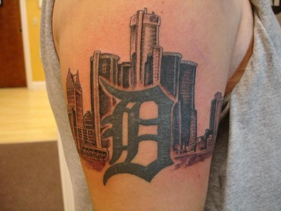 Skyline tattoo emerald city and tattoo placements on for Detroit d tattoo