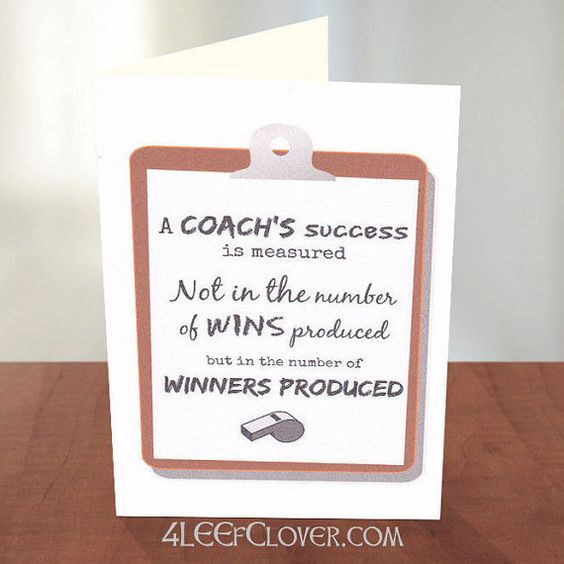 thank you card for a track and field coach baseball