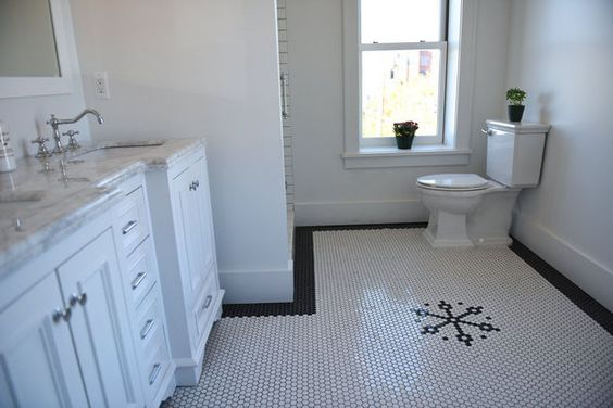 Nicole Curtis Rehab Addict  Ransom Gillis  #tile #hextile #design  #nicolecurtis #rehabaddict #HGTV #bathroom #flooring | Victorian Tile |  Pinterest