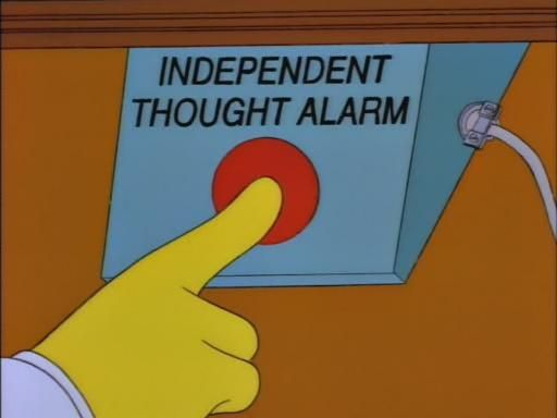 Independent thought alarm